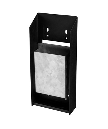 Wall-mounted Cigarette Disposal Tower ALP490-03-BLK