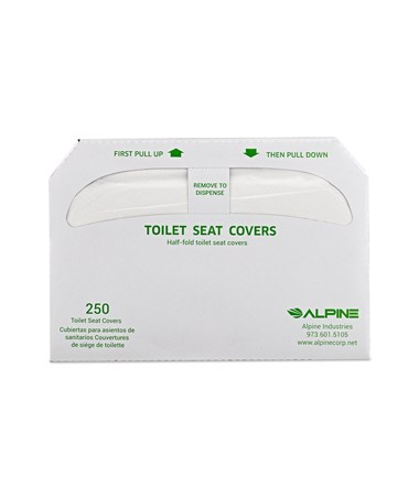 Alpine IndustriesHalf-Fold Flushable Toilet Seat Covers in 3-Pack, 250 Sheets ALPP400 - front