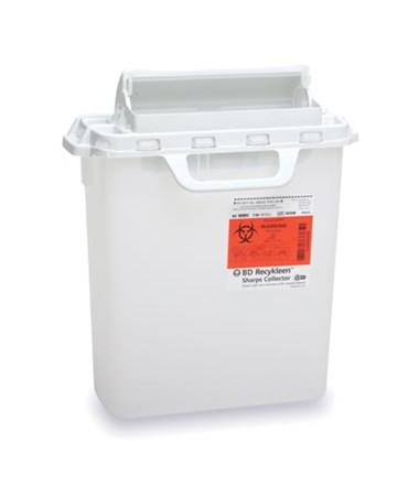 BD Recycleen™ 3 Gal Sharps Collector with Counterbalanced Door - Pearl