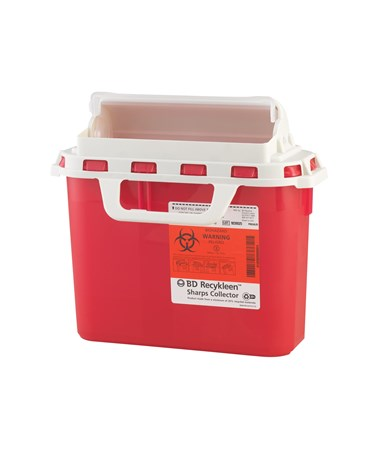 BD Recycleen™ 3 Gal Sharps Collector with Counterbalanced Door BD305054-