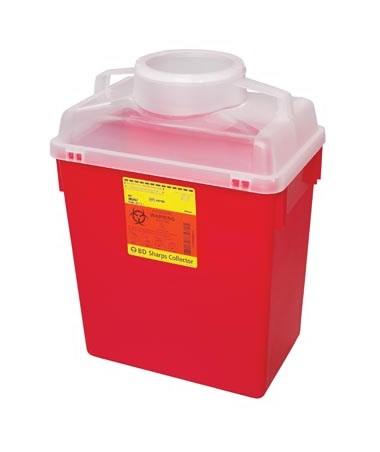 BD Recycleen™ Sharps Collector 6 Gal with Small Open Cap BD305160