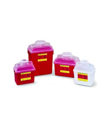 BD Multi-Use Nestable Sharps Collector with Open Clear Top BD305343-1-