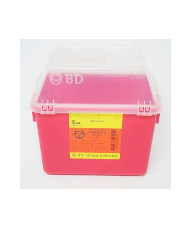 BD Multi-Use Nestable Sharps Collector with Funnel Clear Top BD305344-1-