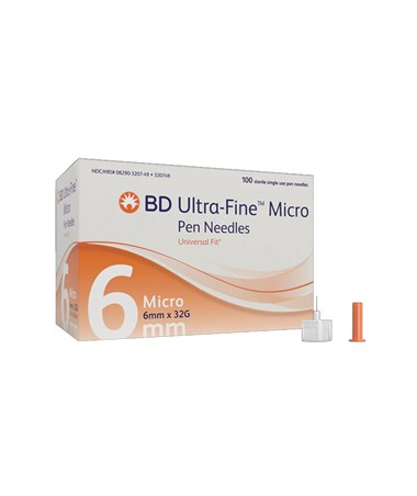 Ultra-Fine Micro Pen Needles with Pentapoint Comfort, 1200 per Case BD320749