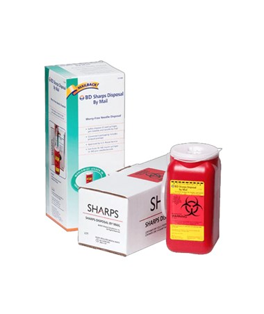 Sharps Collector by Mail Kit, 1.4 Qt - 12 per Case BD323488