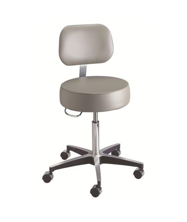 """Brewer 11001B Century Exam Stool with Back Rest w/o Foot Ring"""