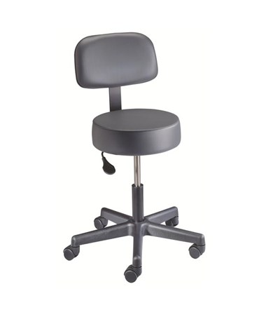 """Brewer 22500 Spin Lift Exam Stool with Back Rest"""