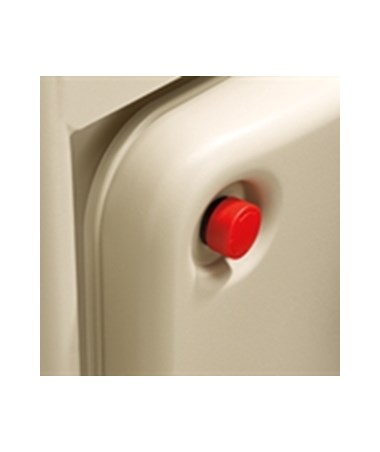 Closeup of the LiftMate emergency button