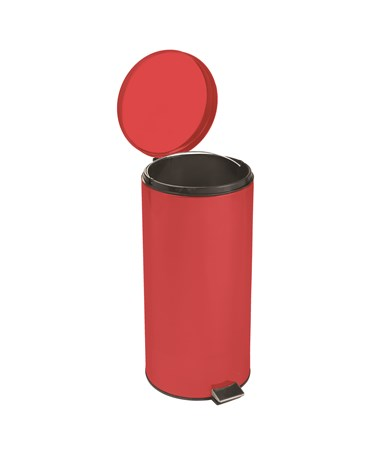 """Brewer 45267 Round Steel Waste Can,Red Enamel Finish"""