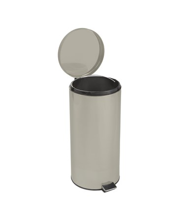 """Brewer 45268 Round Steel Waste Can,Beige Enamel Finish"""