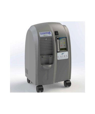 CHR15067013- Companion 5 Stationary Oxygen Concentrator - Side view