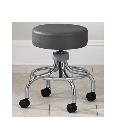Brilliant Clinton Industries 2102 Chrome Base Stool With Circular Foot Ring Ibusinesslaw Wood Chair Design Ideas Ibusinesslaworg