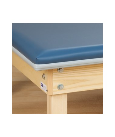 CLI241-47- Upholstered Mat Platform with Adjustable Backrest - Triple-bolted, corner legs