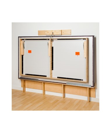 CLI243-47- Wall Mount Folding Mat Platform - Folded
