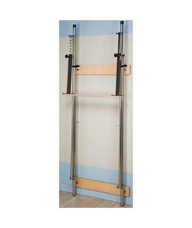 Wall Mounted Folding Parallel Bars, Folded