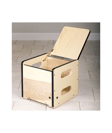 Square Weight Box with Lid Open
