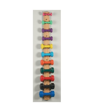 Clinton Industries Wall Mounted Dumbbell Strip - Natural
