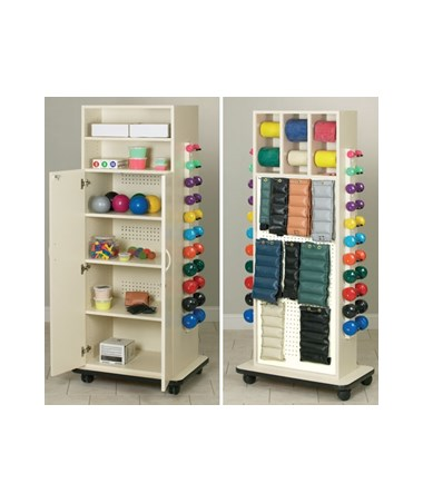 Clinton Industries Element Series CabinetRac Weight Rack with Door and Open Top Storage