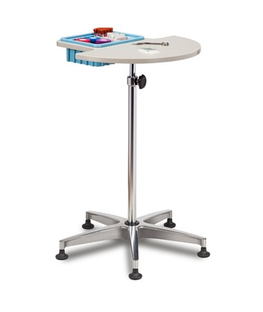 Half Round, Stationary, ClintonClean™ Phlebotomy Stand CLI6950