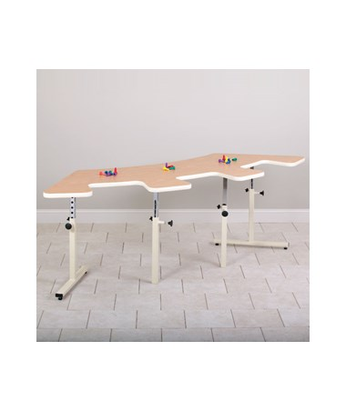 Quarter Round Work Activity Table with Cutouts