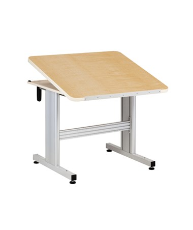 Hand Crank Patient Work Activity Table with Tilt Top CLI76-36C