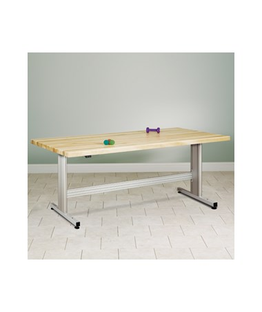 Work Activity Table with Electronic Height Adjustment and Butcher Block Top CLI77-43EM-