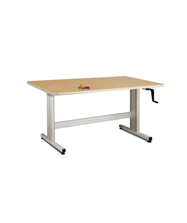 All-Laminate Work Activity Table with Hand Crank Height Adjustment CLI77-45C-