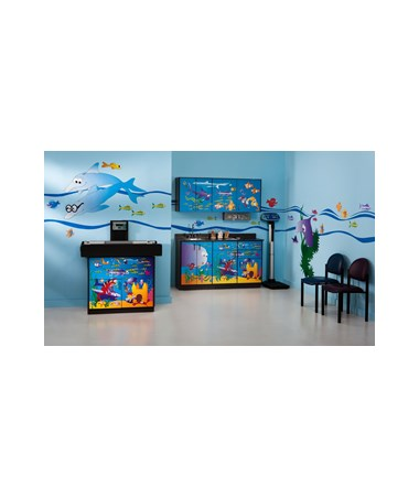 Complete Exam Pediatric  Furniture  Package - Zoo Bus Scale Table & Cabinet CLI7822-X