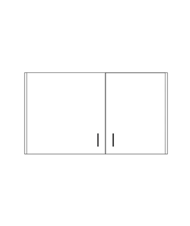 CLI8236-P- Clintonclean™ Wall Cabinet with 2 Doors - 8242-9-P Wall Cabinet