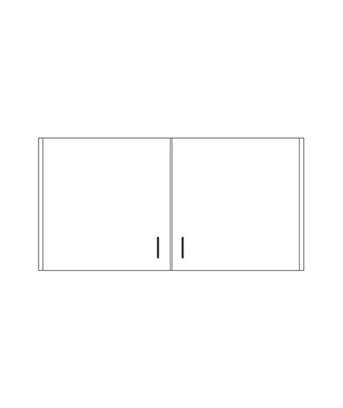 CLI8236-P- Clintonclean™ Wall Cabinet with 2 Doors - 8248-P Wall Cabinet