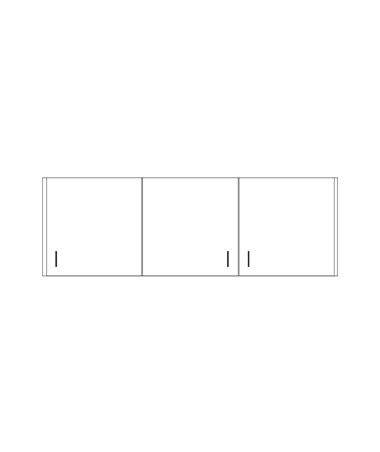 CLI8254-P- Clintonclean™ Wall Cabinet with 3 Doors - 8272-P Wall Cabinet