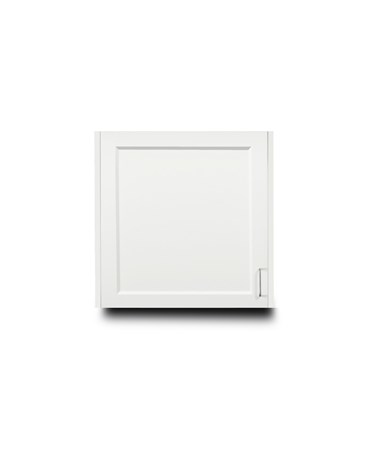 "Fashion Finish 24"" Wall Cabinet w/ 1 Door - Arctic White"