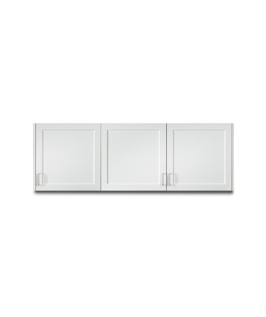 "Fashion Finish 72"" Wall Cabinet w/ 3 Doors - Arctic White"