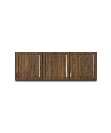 "Fashion Finish 72"" Wall Cabinet w/ 3 Doors - Chestnut Hill"