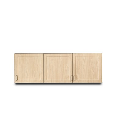 "Fashion Finish 72"" Wall Cabinet w/ 3 Doors - Sunlight Oak"