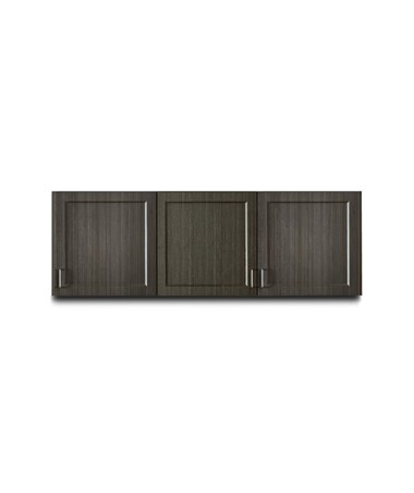 "Fashion Finish 72"" Wall Cabinet w/ 3 Doors - Twilight"