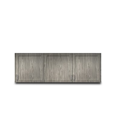 "Fashion Finish 72"" Wall Cabinet w/ 3 Doors CLI8372"