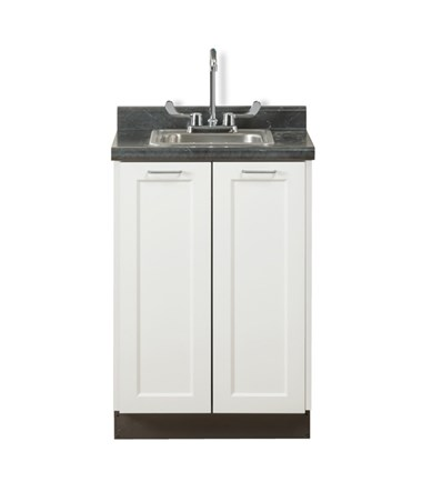 "Fashion Finish 24"" Base Cabinet w/ Two Doors - Arctic White"