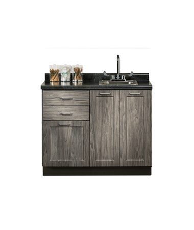 "Fashion Finish 42"" Base Cabinet - 3 Doors, 2 Drawers and Sink CLI8642-42P-"