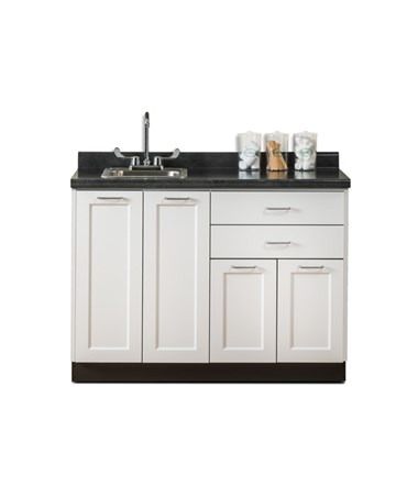 "Fashion Finish 48"" Base Cabinet - Arctic White"