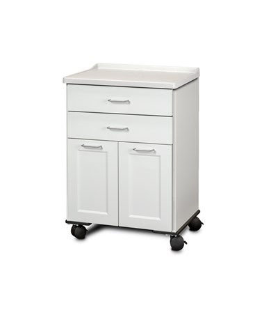 ashion Finish Mobile Treatment Cabinet w/ Molded Top - 2 Doors and 2 Drawers, Arctic White