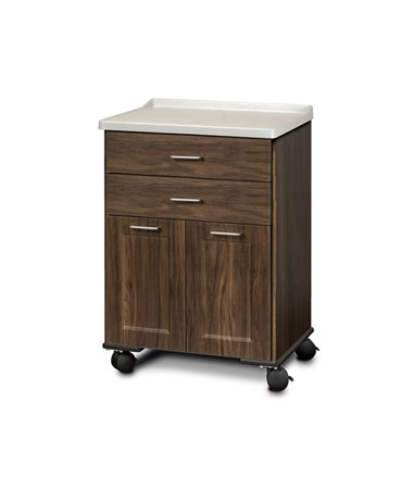 ashion Finish Mobile Treatment Cabinet w/ Molded Top - 2 Doors and 2 Drawers, Chestnut Hill