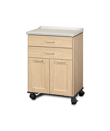 ashion Finish Mobile Treatment Cabinet w/ Molded Top - 2 Doors and 2 Drawers, Sunlight Oak