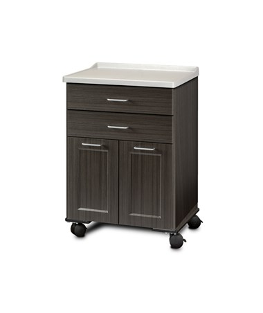 ashion Finish Mobile Treatment Cabinet w/ Molded Top - 2 Doors and 2 Drawers, Twilight