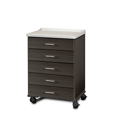 ashion Finish Mobile Treatment Cabinet w/ Molded Top - 5 Drawers, Twilight