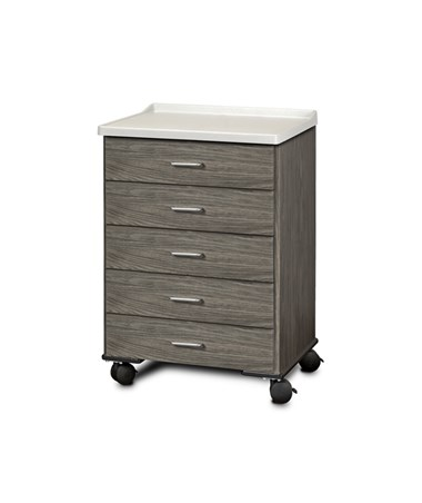 Fashion Finish Mobile Treatment Cabinet w/ Molded Top - 5 Drawers CLI8950-AF