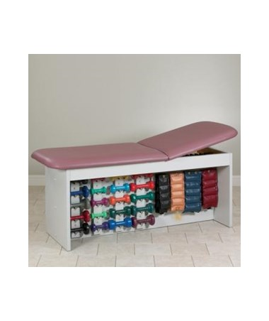 Clinton 9090 Straight Line Treatment Table with Physical Therapy Storage