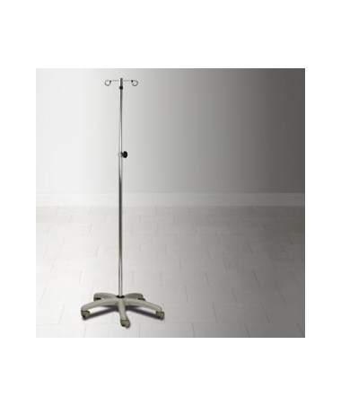 IV Pole with Knob Lock Adjustment, 5 Leg CLIIV-37