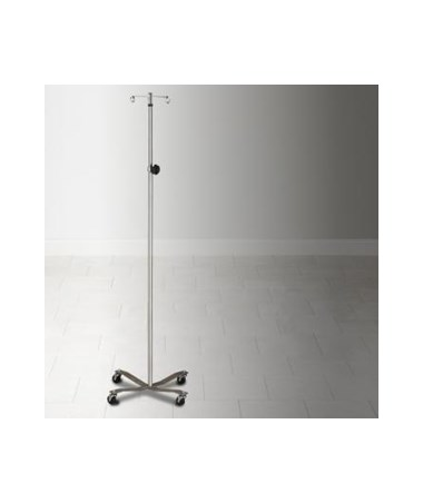 Stainless Steel IV Pole with 2-Hook Top CLIIVS-31