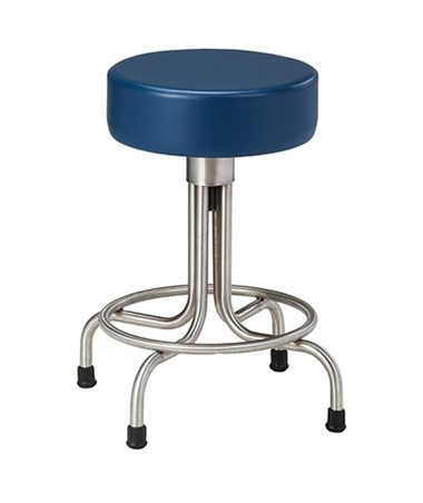Stainless Steel Stool with Rubber Feet & Upholstered Top CLISS-2149